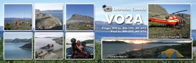 La QSL double de VO2A (via VE3LYC)